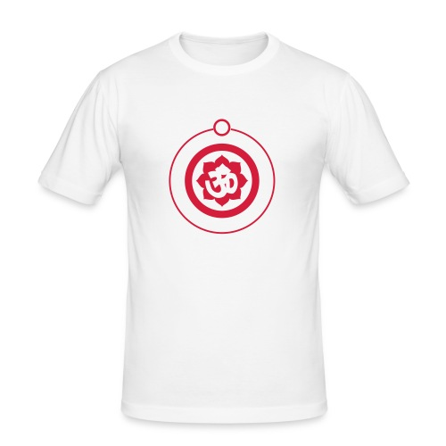 Ohm mandala - Mannen slim fit T-shirt