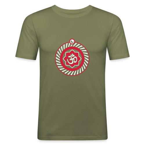 Ohm mandala - Mannen slim fit T-shirt