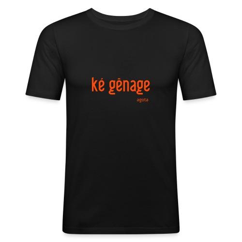 kegenage - T-shirt près du corps Homme