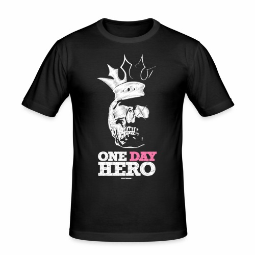 Eves Adam || One Day Hero White - Männer Slim Fit T-Shirt