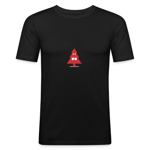 Kerstboom - Mannen slim fit T-shirt