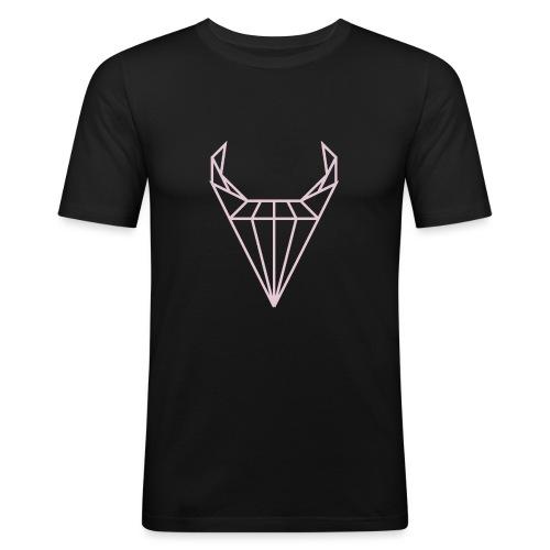 CRSTL BLL wz1 fuxia - Obcisła koszulka męska