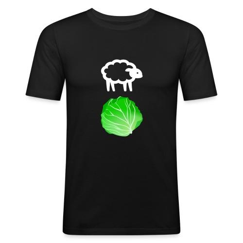 Fårikål - Hvit - Slim Fit T-skjorte for menn