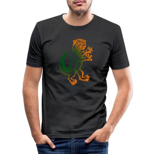DerTiKro nur Tieger - Männer Slim Fit T-Shirt
