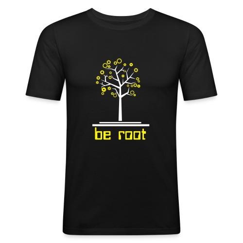 Be r00t - Men's Slim Fit T-Shirt