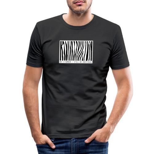 not a number... still an individual - Männer Slim Fit T-Shirt