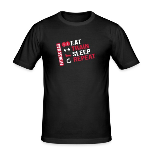 eat train3 pluspetit - T-shirt près du corps Homme