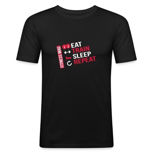 eat train3 pluspetit - T-shirt près du corps Homme