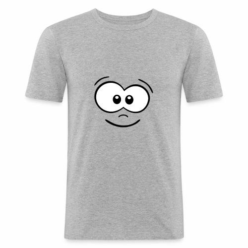 Gesicht fröhlich - Männer Slim Fit T-Shirt