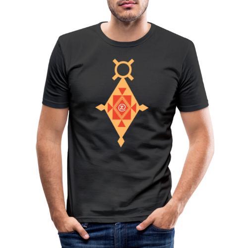 Etoile Croix du Sud Berbère - T-shirt près du corps Homme