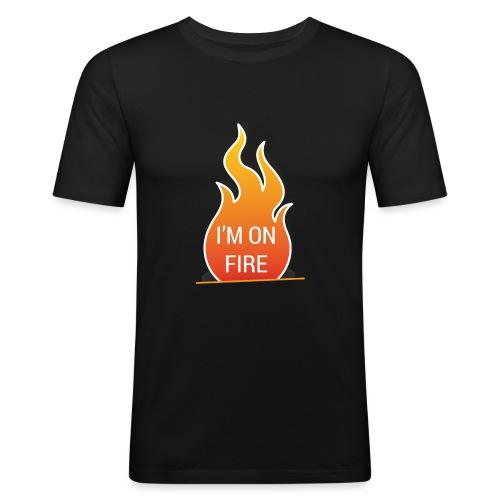 I'm on fire - Mannen slim fit T-shirt