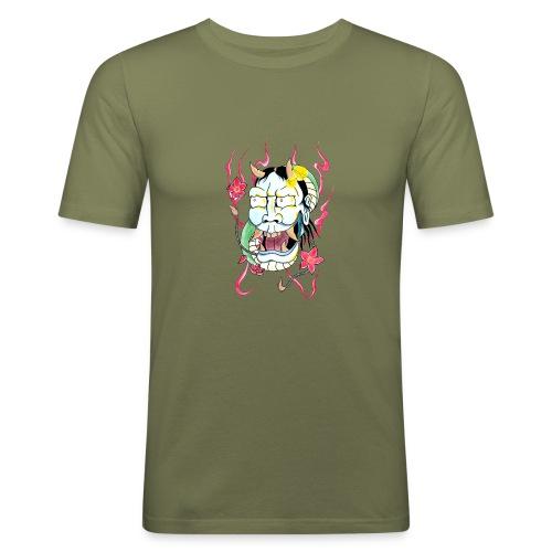 hannya mask - Men's Slim Fit T-Shirt