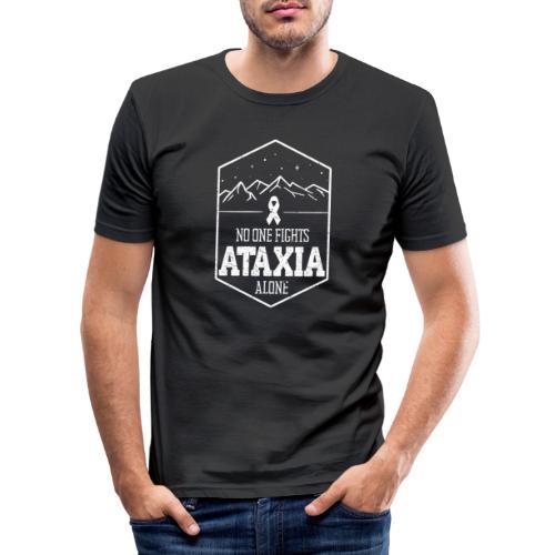 Ingen kjemper mot Ataxia alene - Slim Fit T-skjorte for menn