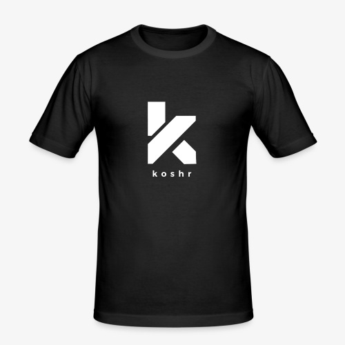 Koshr Official Logo - - Men's Slim Fit T-Shirt