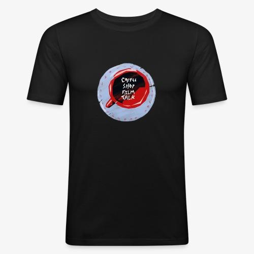 Coffee Shop Film Talk - Men's Slim Fit T-Shirt