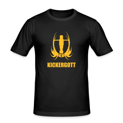 Tischfussball kickergott - Männer Slim Fit T-Shirt
