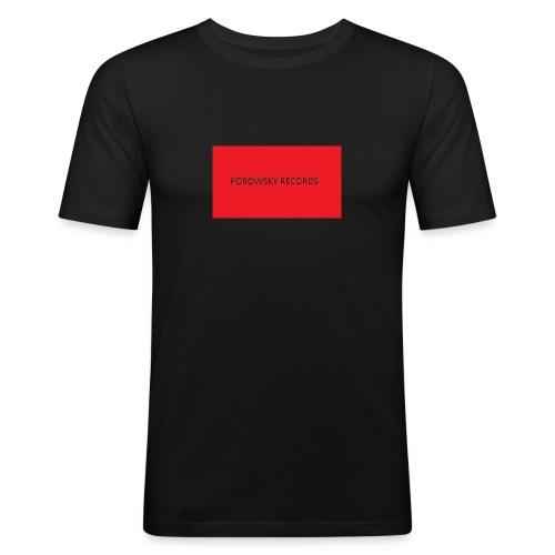 porowsky records kassettenbandt 2016 shirt - Slim Fit T-shirt herr