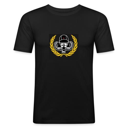 Logo Schwarz png - Männer Slim Fit T-Shirt
