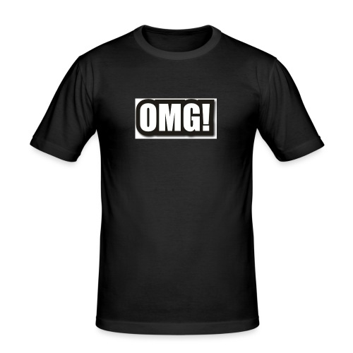 large wordprops omg - Slim Fit T-shirt herr