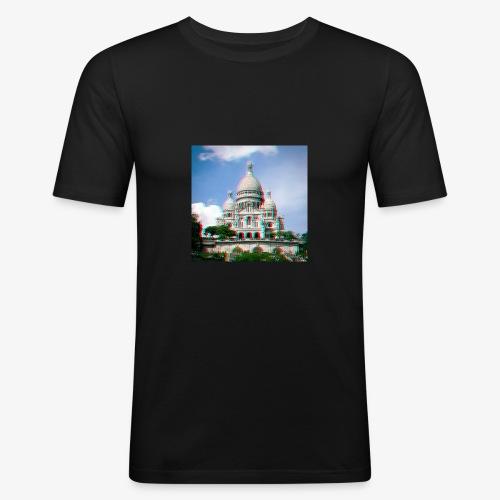 SacreCoeur Anaglyph - Männer Slim Fit T-Shirt