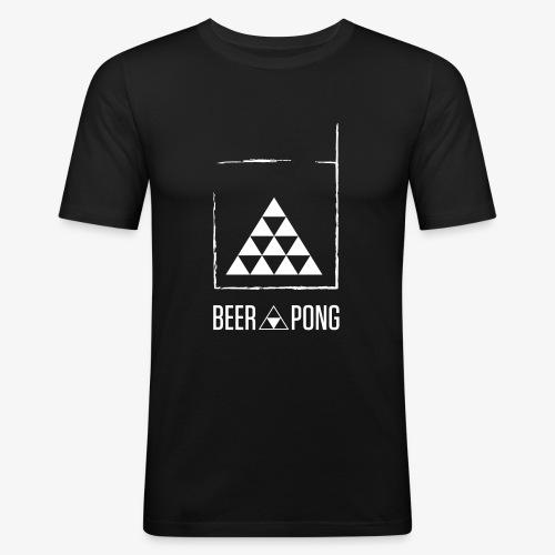 Beer Pong Table Triangle - Männer Slim Fit T-Shirt