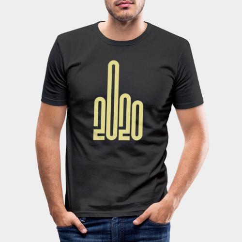 Covid Corona 2020 - T-shirt près du corps Homme