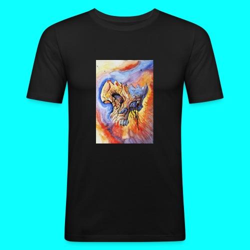 Calavera Acuarela - Camiseta ajustada hombre