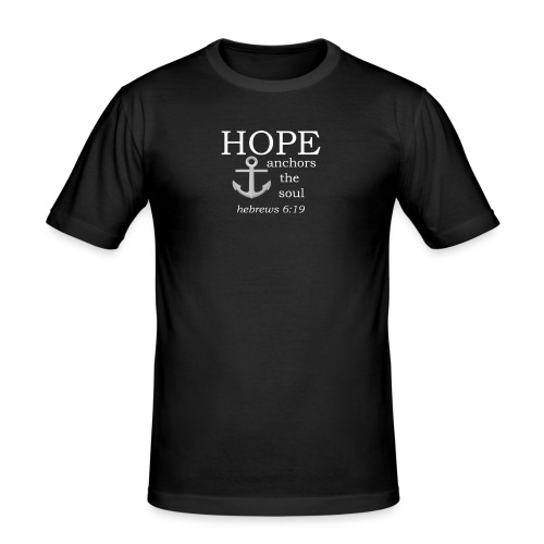 'HOPE' t-shirt (white) - Men's Slim Fit T-Shirt