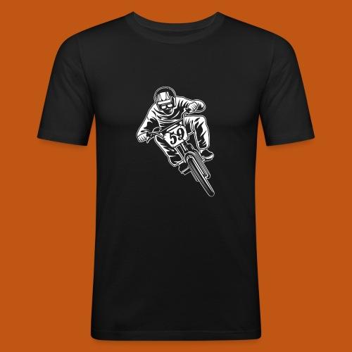 BMX Fahrrad / Bike 02_weiß - Männer Slim Fit T-Shirt
