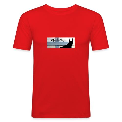 FBtausta - Miesten tyköistuva t-paita