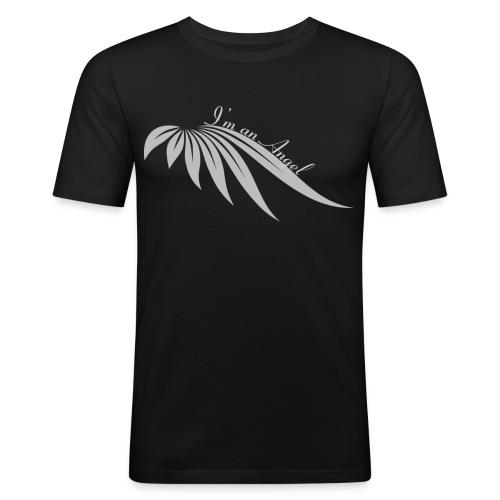 I am an angel gris - T-shirt près du corps Homme