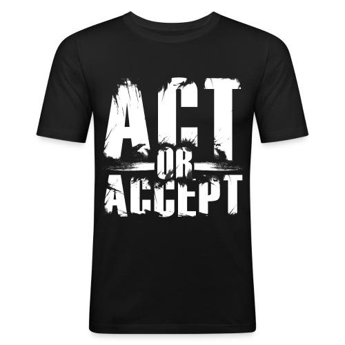 AOA classic - Männer Slim Fit T-Shirt
