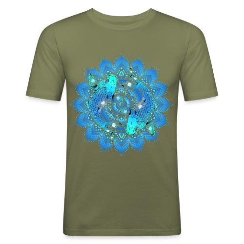 Asian Pond Carp - Koi Fish Mandala 1 - Männer Slim Fit T-Shirt