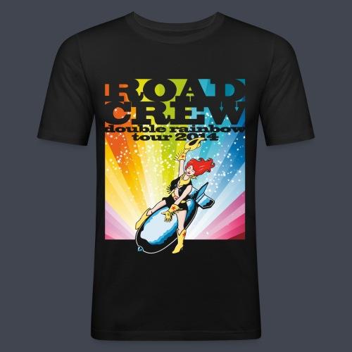 double rainbow tour - Männer Slim Fit T-Shirt