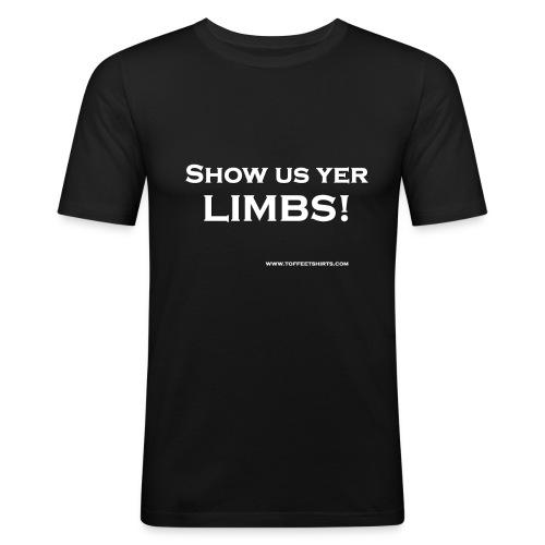 limbs white firew - Men's Slim Fit T-Shirt