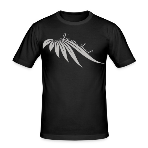 I am an angel gris - T-shirt près du corps Homme