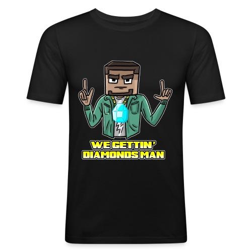 wegettindiamondsman - Men's Slim Fit T-Shirt