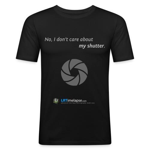LRTimelapse TShirt Don tCareAboutMyShutter 2 png - Männer Slim Fit T-Shirt