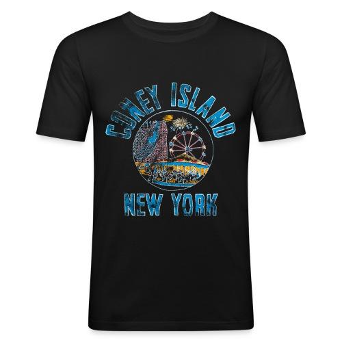 Coney Island NYC - T-shirt près du corps Homme