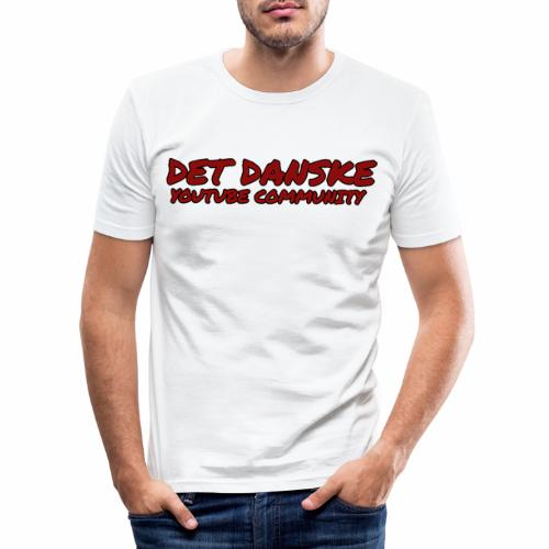 tekst png - Herre Slim Fit T-Shirt