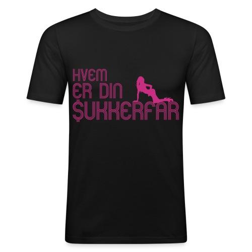 Hvem er din Sukkerfar - Herre Slim Fit T-Shirt