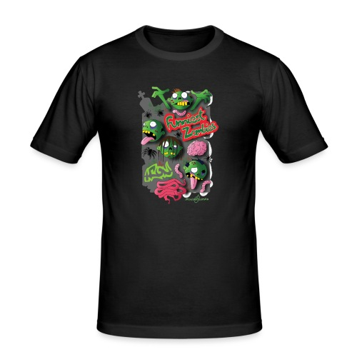 Zombie Graffiti - Maglietta aderente da uomo