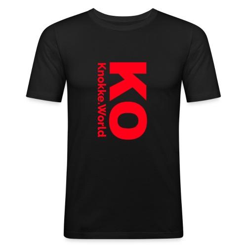 ko hoodie - Mannen slim fit T-shirt
