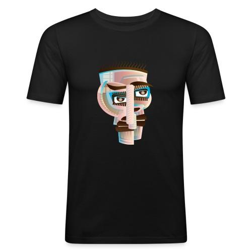 abstract 158517 Apstrakt-Kopf- - Männer Slim Fit T-Shirt
