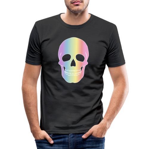 Rainbow Skull - Miesten tyköistuva t-paita