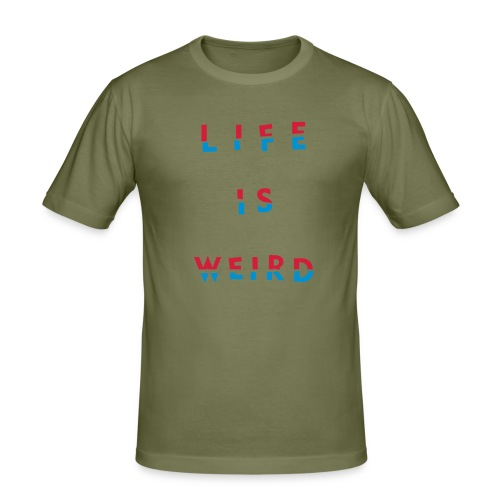 lifeisweird2spaced - Men's Slim Fit T-Shirt