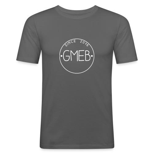 doorschijnend LOGO WIT - Mannen slim fit T-shirt