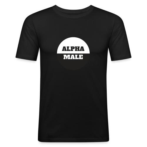 Alpha Male - Miesten tyköistuva t-paita