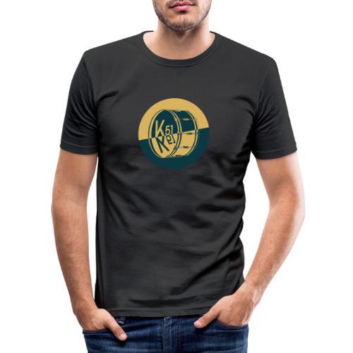 Logo Rund - Männer Slim Fit T-Shirt