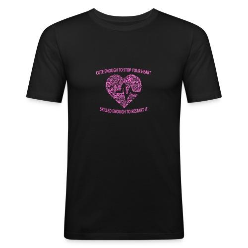 Søt kopp - Slim Fit T-skjorte for menn
